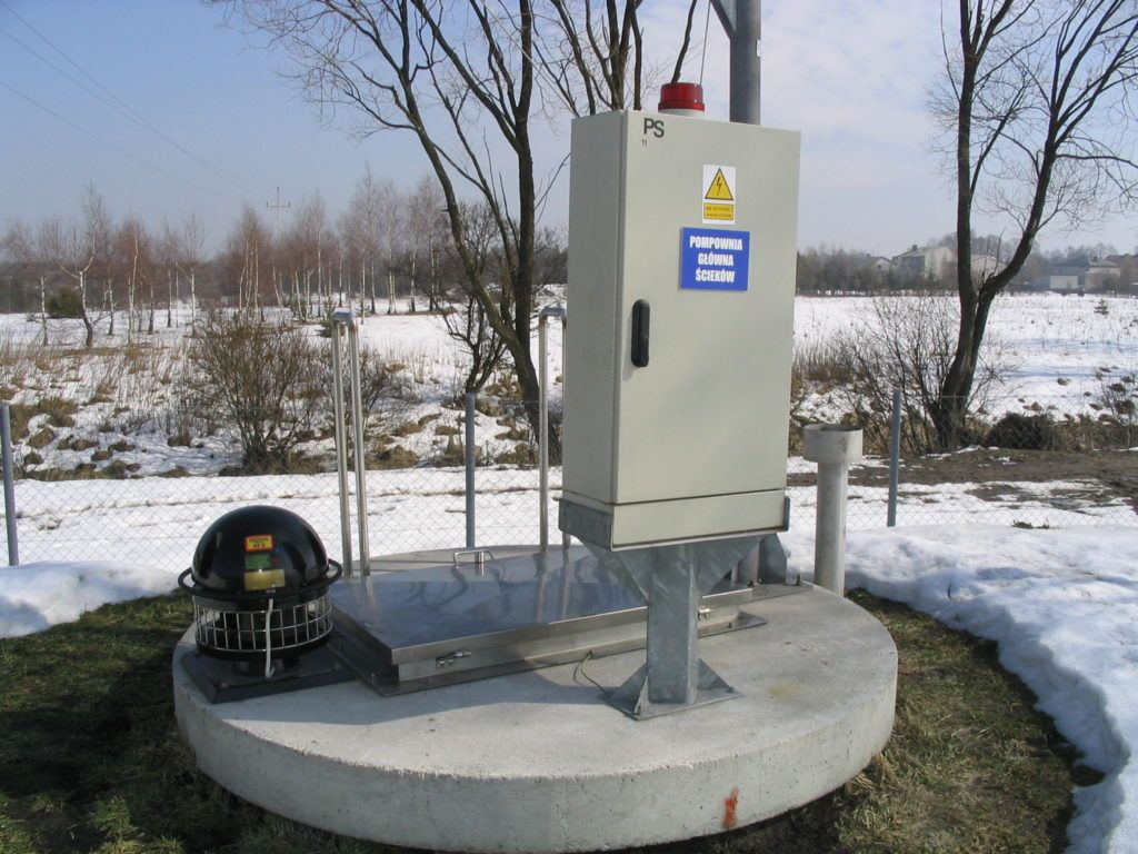 Przykład telemetrii GSM. Zdalnie monitorowana i sterowana przepompownia ścieków.